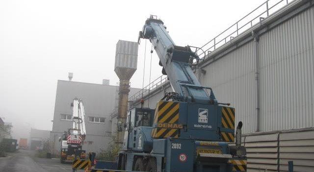 Der Umzug von Maschinen und ganzen Fabriken nach Deutschland und ins Ausland